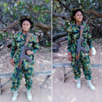 Female Nigerian Soldier On Election Duty Issues Warning To Intending Ballot Snatchers