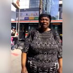 Reactions As Nigerian Woman Is Spotted Begging On The Streets Of Canada (Video & Photos)