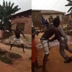Man Fights PHCN Official With Machete Over Light Disconnection In Lagos (Video & Photos)