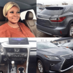 New Yoruba act Toyosi Jaiyesimi who claimed to have bought a Lexus SUV reportedly stole the car's (photos)