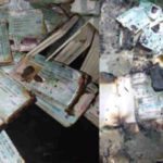 Unknown Persons Burn Uncollected PVCs At INEC Office