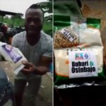 Man Cries Bitterly After Receiving APC 'Next Level' Garri (Photos)