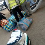 Party Members Allegedly Spotted With Over 15 Bags Of Cash At Abuja Airport (Photos)