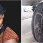 Alariwo of Africa shares poor state of a commercial plane's tyre in Nigeria (PHOTOS)