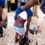 Young man caught wearing his sister's panties after stealing it in Lagos (Photos)