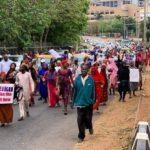 #NIGERIADECIDES 2019: 'Two Million Women' Hold Rally Asking Atiku To Congratulate Buhari (Photo)
