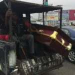 Reactions As Policemen Are Spotted Transporting A Coffin In Their Van (Photos)
