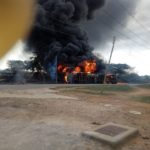 Tanker Explodes In Ekiti After Brake Failure, Residents Injured (Photos)