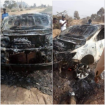 Kano Election: BBC Reporter, Others Escape Death, Car Burnt, And Commissioner Arrested (PHOTOS)
