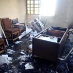 INEC Office In Akwa Ibom Set On Fire A Day Before Elections (Photos)