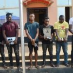 Car, Laptops, 'Juju' Recovered As Yahoo Boys Are Arrested In Ibadan (Photos)