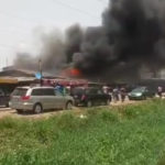 Fire Razes Building, Cars As Domestic Gas Cylinder Explodes In Surulere, Lagos State