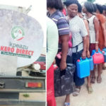 Governorship Candidate 'Bribe' Abia Residents With Kerosene 2 Days To Elections (photos)