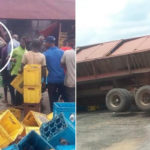 Free Alcohol For Residents As Truckload Of Beer Crashes In Akwa Ibom (Photos)