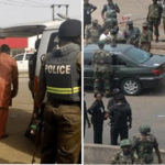 Soldiers And Police Clash At INEC Headquarters In Rivers State Over 'Who Is In Charge' (photos & video)