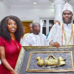 """Thank You For Taking Care Of 2baba"" – Ooni Of Ife Applauds Annie Idibia During A Courtesy Visit (Photos & Video)"