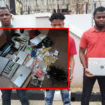 123 Sim Cards, Dozens Of ATM Cards, Other Items Retrieved From Fraudsters' Hideout In Uyo; 5 Yahoo Boys Arrested (photos)
