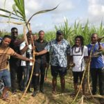 Bayelsa Governor Eats Sugarcane With Entertainers As They Chill In His Farm (photos)