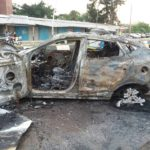Residents Burn Man's Car After Crushing Okada Rider To Death In Delta. (Photos)
