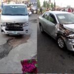 Container Truck Crashes Into 5 Cars After Brake Failure In Lagos (photos)