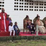 Photos: Oba of Benin Spotted With His Four Pretty Queens During Traditional Event In Edo