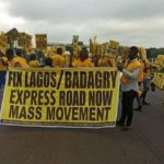 Residents, students protest state of Lagos-Badagry Expressway
