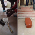 Man Wakes Up To Find Coffin And Charm In Front Of His House. (Photos)