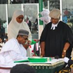 Buhari takes oath for second term without delivering any speech (photos)