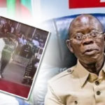 APC Chairman, Adam Oshiomole Displaced From His Position During Presidential Inauguration (Video)