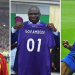 Match For Ambode: African Football Legends Honours Outgoing Lagos Governor At His Testimonial Match In Agege (Photos)