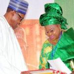 Buhari greets Mrs. Fawehinmi at 70