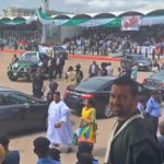 Buhari, Lawan, Gbajabiamila, arrive Eagles Square (video)
