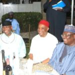 Sen. Uzor-Kalu hosts Lawan, Omo-Agege to dinner