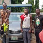 Uber car snatching robbers arrested, 2 guns, 7 cartridges recovered