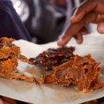 Nigerian Woman Shocked After Seeing How Popular Meat Snack 'Kilishi' Is Being Made (Video)