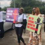 Heavy Security Presence At COZA As Nigerians Stage Protest Demanding The Prosecution Of Pastor Biodun Fatoyinbo  (photos)