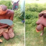 Mentally challenged woman gives birth to twins in the bush in Katsina State (Photos)