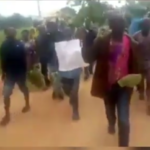 Workers Protest Against Yahaya Bello Over Unpaid Salary In Kogi (Video & Photos)