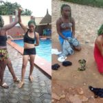 Two Young Girls Punished For Impersonating The Black Axe Confraternity (Photos)