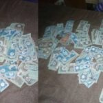 Over Excited Lady Shares Photos Of Wads Of Biafran Currencies She Found in Her Dad's Cupboard