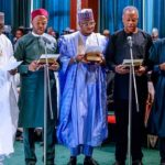 20 Photos From Buhari's Swearing In Of Ministers and Their Portfolios