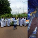 VIDEO & PHOTOS: Catholic priests protest killing of colleague in Enugu