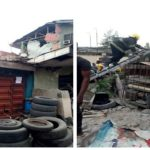 Breaking: Another Two-Storey Building Partially Collapses In Lagos Community