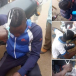 PHOTOS: Taskforce Forcefully Shave Young Men's Hair With Scissor In Niger State
