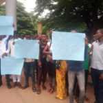 PHOTOS: Tension In Benue University As Students Shut Down Campus Over Loss Of Students' Leader