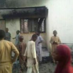 Trouble Looms As Thugs Burn Down APC Office In Katsina (photos)