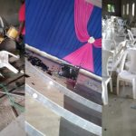 Masquerades invade Church in Akwa Ibom, destroy properties, beat up parishioners after pastor preached against their violent activities (photos)