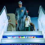 Buhari Arrives Sochi Ahead Of Russia–Africa Economic Summit (photos)