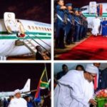 President Buhari Arrives In South Africa After Xenophobic Violence (See Photos)