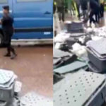VIDEO & PHOTOS: Money Spills On The Road After Bank Of Ghana Bullion Van Collided With A Fuel Tanker